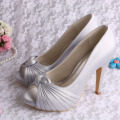 Platform Heel Purple Shoes for Wedding Open Toe