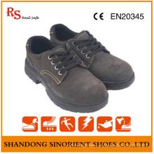 Sapatas de trabalho de couro protetoras da segurança das sapatas de trabalho do couro da camurça