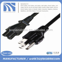 Câble d'alimentation USB 3-Prong pour câble d'alimentation pour ordinateur portable LCD 6 pieds 6 pieds noir