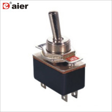 Interruptor de alavanca da maneira do Pin KN3 do Pólo 2 de 4A 125VAC 12MM único 4A SOBRE