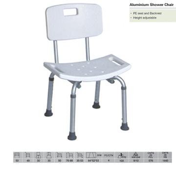 Cadeira de chuveiro padrão com encosto de costas