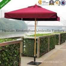 2m Square Wooden Teak Garden Umbrella for Outdoor Furniture (WU-S42020)