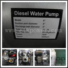 Bomba de agua diesel del comienzo dominante (DWP100)