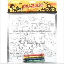 regalo y artesanía, niños niños educativos rompecabezas de Halloween dibujo rompecabezas de pintura