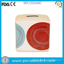 DOT Swirl Fancy Design caixa quadrada de papel de tecido