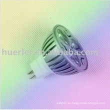 El poder más elevado E27 GU10 GU5.3 MR16 24v 12v 3w llevó el proyector llevado solar