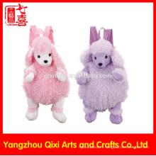 Bonne qualité enfants en peluche zoo animaux jouets moutons en peluche sac à dos