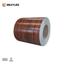 Embossed color coated aluminum coil for building material