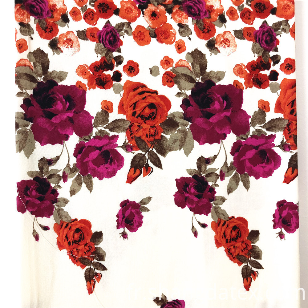 Floral Rayon Twill