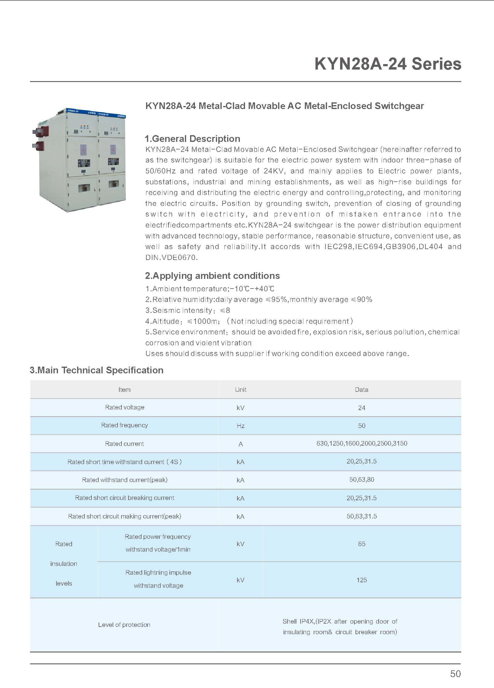 24kV Switchgear Technical Specification