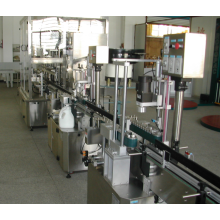 Whole automatic bottle  filling line including filling capping sealing labeling machine