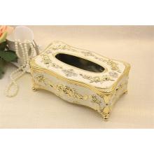Caja de pañuelos de madera retro de alto grado