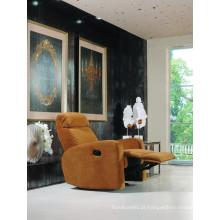 Sofá de couro de couro genuíno Sofá de sofá reclinável elétrico (845)