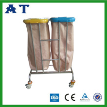 Hospital waste bin with two Nylon bags