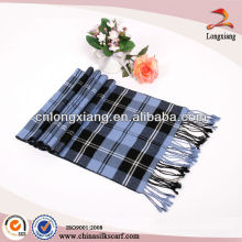 Classic Cashmere Feel Men's Winter Scarf In Rich Plaid