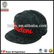 snapback hat 3d embroidery use woolen cloth