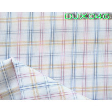 Checks Polyseter Cotton Fabric Shirting Djx046