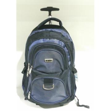 Sac à dos en nylon à manches longues de 17 pouces avec chariot à bagages avec SGS (89606)
