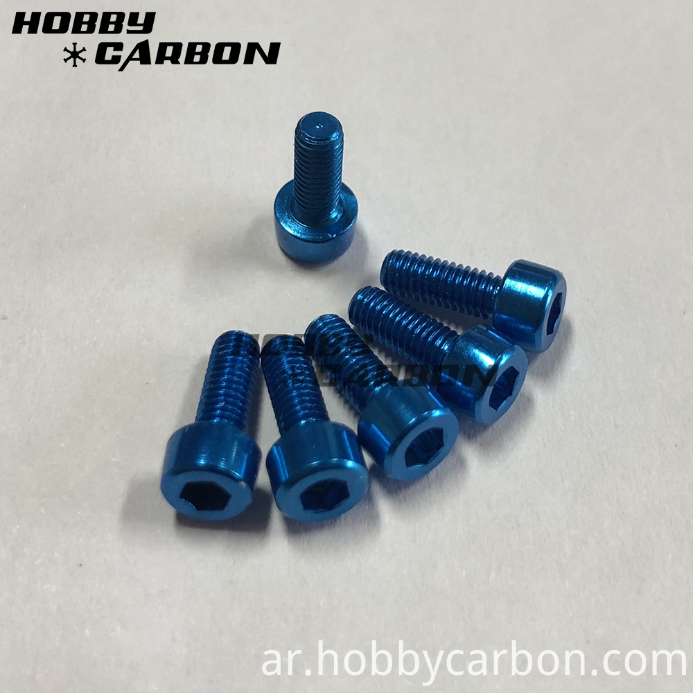 Blue M3 Cap Head Screws