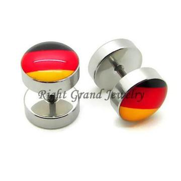 Chirurgisches Edelstahl-10mm gefälschte Ohr-Piercings