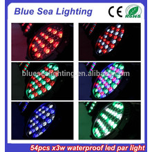 2015 hotsale 54pcs x 3w stage light disco equipment IP65 led par 56