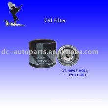 Filtro de óleo do cartucho Toyota 90915-30001
