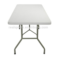 6ft HDPE mesa de dobramento de plástico e molde de sopro ao ar livre mesa de piquenique dobrável / mesa de acampamento