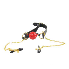 Fetish Mouth Gag Erotic Toys Double Nipple Clamps Adult Games Bdsm Sex Toys