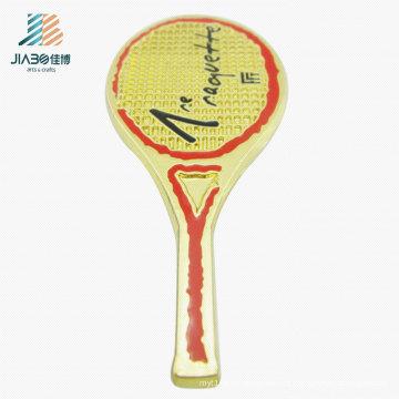 Crachá feito sob encomenda do Pin da lapela do logotipo do tênis quente do esporte da carcaça da liga da venda no metal