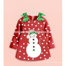 Juegos personalizados de ropa de noche Niños de dibujos animados Pijamas de Navidad Hombre de nieve Ropa de bebé niña