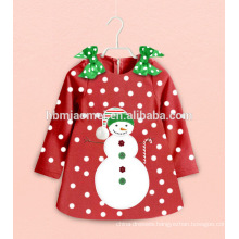 Custom Night Wear Sets Cartoon Kids Christmas Pajamas Snow Man Baby Girl Clothes