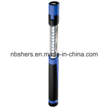 Dual-Function Extendable Telescopic 11 LED Work Light Torch Magnetic Base