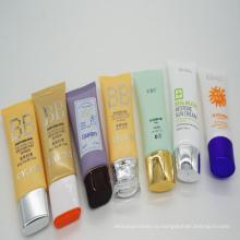 Различные пластиковые Уход за кожей косметические трубка с овальной плоской