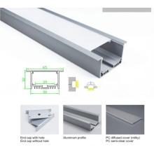 50 * 32mm encastré plafond en aluminium barre de profil pour lampe LED