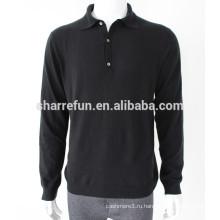 Оптовая 12гг плоская трикотажная водолазка чистый кашемир свитера для мужчин