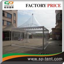 Tentes de pagode de mariage en PVC clouté en paroi de 5 m à 5 m