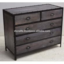 industrial loft drawer cabinet