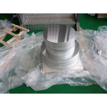 Pre-Perforado y Rayos Círculo Círculo de Aluminio Signos en blanco