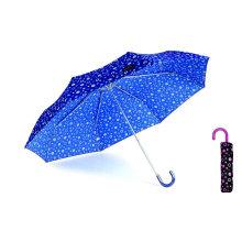 Pompon 3 Fold Manual Aluminium Light Umbrella (YS-3FM21083946R)