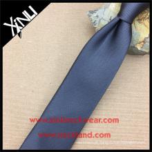 Perfeita do nó do pescoço Jacquard de seda tecida moda cetim Reps Mens Black Tie