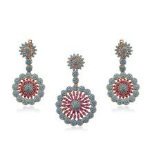 64259 -Xuping Jewelry Fashion 18k gold Plated Jewelry, Dubai Style Brass Jewelry Sets