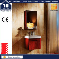 Hot Selling Lacquer Solid Wood Bathroom Vanity with Mirror Cabinet