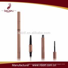 AS11-1 3 in1 pluma plástica cosmética del best-seller 3D con el cepillo del rimel opción de la calidad