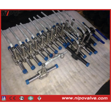 Forged Steel Thread Floating Ball Valve with Extended Pipe