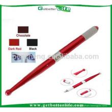 2015 getbetterlife bleu & rouge deux couleurs aluminium manuel maquillage permanent stylo/manuel sourcil tatouage plume/sourcils broderie