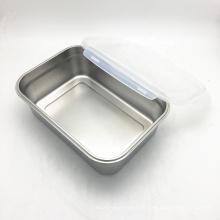 многоразовый прямоугольный контейнер из нержавеющей стали для хранения продуктов питания