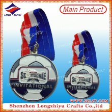 Round Football Enamel Colored Winner Medal