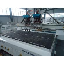 2500mm * 1300mm CE a prouvé le routeur de commande numérique par ordinateur de la Chine avec la tête six