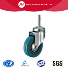 65mm Gewindestiel Grey Rubber Caster