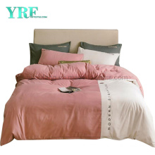 Made in China Home Collection Color Matching Modern Design Microfiber Brushed Bedding Set